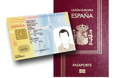 dni pasaporte espanol