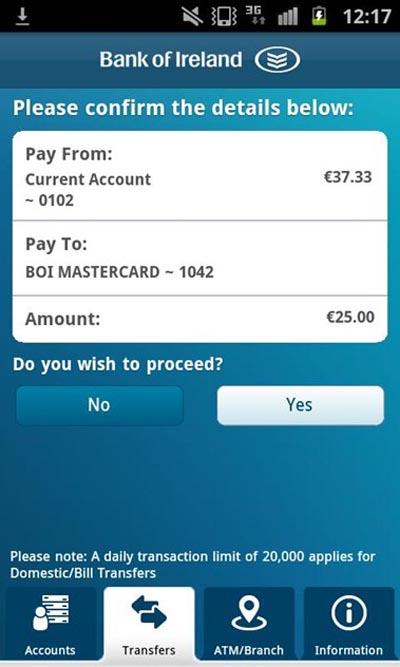 extracto bancario movil irlanda