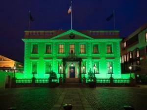 Casa verde en San Patricio