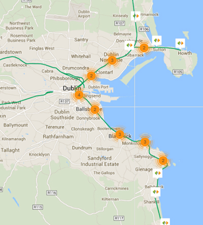 mapa estaciones dart