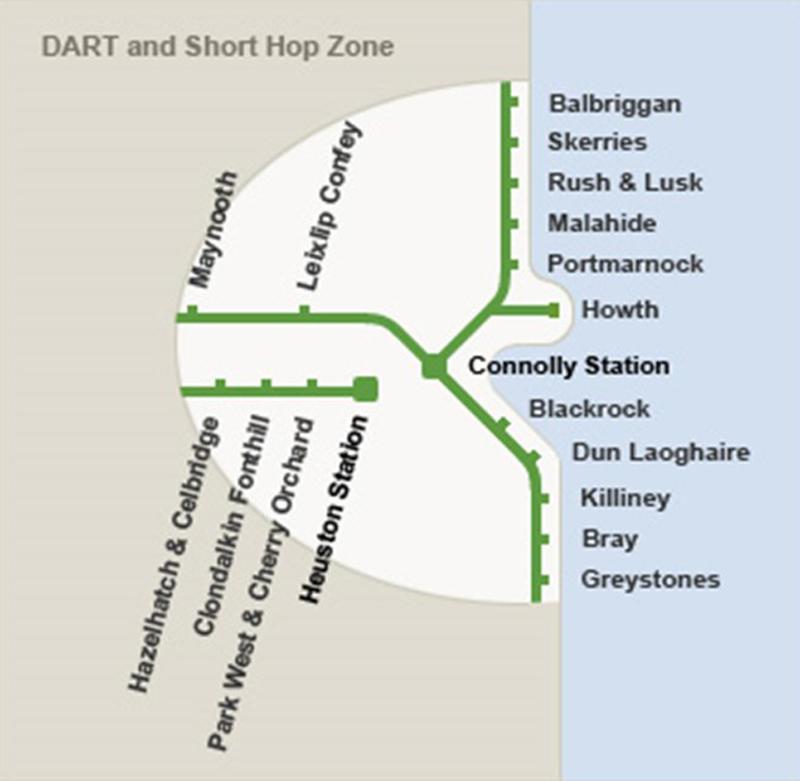 mapa zonas trenes dart