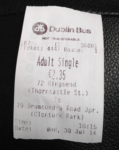 ticket autobus urbano dublin